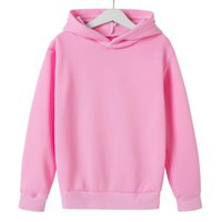 Hoodies & Sweatshirts Childrens Sweater Solid Color Loose Hooded Pullover Can Be Customized Pattern Printing Logo Spring Autumn Casual Warm
