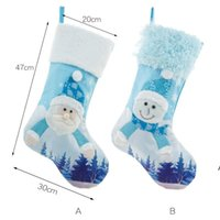 Christmas decorations Large Christmas-stocking with lights Kids Gift Candy Bag Xmas Tree Pendant ZZB8928