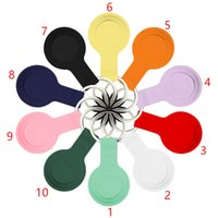 Silicone Cases Protective case Cover Shell with keychain for Apple Airtag Smart Bluetooth Wireless Tracker Anti lost tracking
