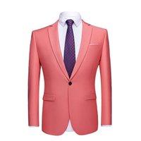 Men's Suits & Blazers 2021 Men Suit Jacket Mens Business Jackets Formal Office Casual Slim Fit Black Green Purple Pink Wedding Party Dress