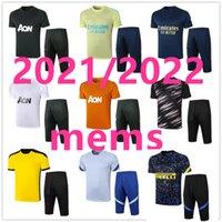 21 22 Yetişkin Seti Polo Futbol Setleri Eğitim Kol Kısa Kollu Futbol 3/4 Suit Jogging Chandal Futbol Boyut S-2XL 106