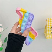 Pop It Phone Case Fidget Toys Silicone For Iphone 11 12 Pro Max Mini 7 8 Plus X XR XS Reliver Stress Push Bubble Cover