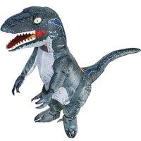 التميمة أزياء t-rex velociraptor نفخ ديناصور زي أنيمي purim هالوين حزب ازياء للرجل امرأة تنكرية suitmascot