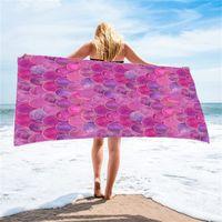 حورية البحر منشفة الشاطئ يمكن ارتداؤها مناشف حمام قابلة للتغيير شاطىء البحر تأخذ عطلة منديل فائقة فائقة الألياف الرملية تنورة 803 B3