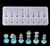 Moule en silicone pour résine International Échecs Silicone Silicone Résine UV DIY Argile Époxy Résine Pendentif Moules pour bijoux 237 v2