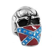 Bandiera classica American Bandiera American Infidel Skull Anello Acciaio Inox Gioielli Vintage per uomo Regalo SWR0658