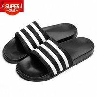 ASIFN Men's Slippers EVA Men Shoes Women Couple Flip Flops Soft Black White Stripes Casual Summer Male Chaussures Femme Slides #Be88