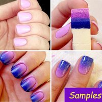 Nail Files 10Pc Soft Triangle Art Polish Gel Gradient Color Stamp Drawing Painting Sponge Image Transfer Manicure Tools Supplies