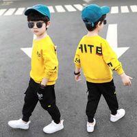 !Spring Autumn Boy Girl Clothes Sets Cotton Kids Hoodie+Haren Pants 2 Piece Toddler Sports Children Clothing
