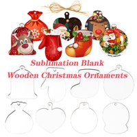 Sublimation Blanks Wooden Christmas Ornaments Wooden Hardboard Ornament Hanging Decorations Blank Wood Discs with Holes for Festivals DIY Crafts Decoration