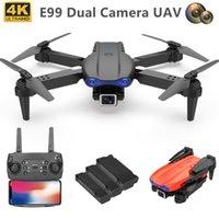 E99 UAV HD Fotografía aérea plegable de cuatro ejes Aviones 4K Doble Cámara Juguete K3 Control remoto Drone