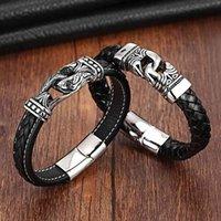 XQNI Charm Bracte для женщин из нержавеющей стали 19 см21 см размер подлинные браслеты браслеты мужчины ювелирные изделия кожаные
