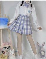 2021 Robes de rentrée courtes A Line Graduation Gestion de fête Original JK Uniforme Jupes Valentin's Jour Limitée Jupe Jupe Plated College Style