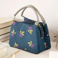 Outdoor Bags Portable Insulated Thermal Cooler Bento Lunch Box Tote Picnic Storage Bag Pouch For Family On Weekend