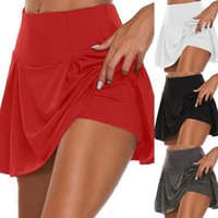 Skirts Loose Athletic Shorts Sweat Absorbing Double Layer Nylon Workout Skorts Running For Girl