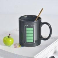 Keramische batterie farbe-wechselnde tassen designer kreative hitzewechsel auflagern bild sublimationsbecher kaffee farbe-chänder keramik cup