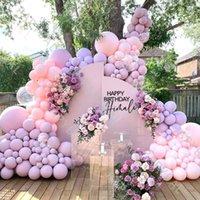 Party Decoration 1 Set Pink Purple Balloon Arch Garland Kit For Wedding Birthday Anniversary DIY Balloons Decorations Globos