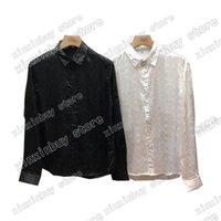 21ss Erkek Tasarımcı T Shirt Tee Pürüzsüz Kumaş Paris Harfler Çift Mektup Giysi Uzun Kollu Erkekler Kadınlar Gerçek