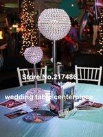 パーティーの装飾卸売(50cmの高さ)背の高いトランペットと大きなトランペットの花の手配のためのガラスビーズの花瓶