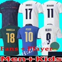 2021/22 Italie Coupe d'Europe Men et enfants Accueil Soccer Jerseys Équipe nationale 20/21/22 Insigne Belotti Verratti Pirlo Shirt de football italien Camisa Uniformes