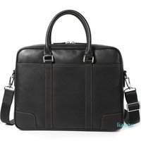 Genuine Leather Men's Briefcase Handbag laptop Bag Cross Section Men's Computer Bag Business Affairs Bags
