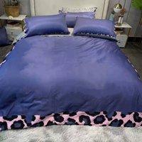 مصمم 4 قطع مجموعات الفراش القطن الملكة حجم النمط الأوروبي غطاء لحاف وسادة الحالات السرير ورقة لحاف المعزي يغطي