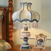 Arazzi Lampada da tavolo europea creativa calda luce regolabile camera da letto comodino da letto da letto regalo di nozze Decorazione della camera