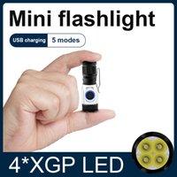 8000lm 가장 강력한 LED 토치 미니 손전등 USB 크리 어 XPG LED 미니 토치 전술 방수 LED 전구 충전식 hedeli 36W 210322