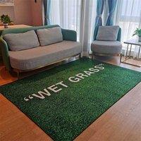 WET GRASS Rug Carpet Living Room Decoration Bedroom Bedside Bay Window Area Rugs Sofa Floor Mat 211023