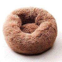 WillStar Dog Bed Winter Warm Cálido Largo Peluche Camas de dormir Soild Color Soft Pet Dogs Cat Mat Cushion Drop 210827