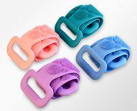 New2 in 1 Zauberkörper Silikonbürsten Badetücher Körperbürste Bad Gürtel Peeling Back Pinsel Gürtel Wäsche Haut Haushalt Reinige Duschbürsten