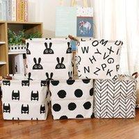 Cube Folding Lagerkorb für Kinder Spielzeug Organizer Wasserdichte Boxen Bins Griffe Home Office Regal Organizador Meer Versand HWB8748