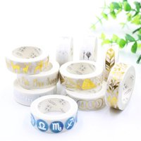 15mm*7m Adhesive Tape For Scrapbooking DIY Craft Sticky Deco Masking Japanese Paper Washi Gold Sliver Series Gift Wrap