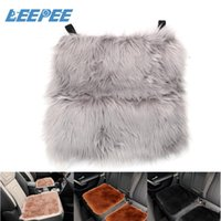 Car Seat Covers LEEPEE Cover Imitation Wool Cushion Automobile Interior Accessory Auto Soft Fluffy Winter Warm