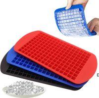 Herramientas de cocina 160 Grids Creative Pequeño Cubo de hielo Molde forma cuadrada Accesorios de silicona DHB7027