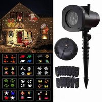 Effects Outdoor Waterproof 12 Patterns Christmas Laser Projector Lights Snowflake LED Stage Light Halloween Landscape Lawn Garden