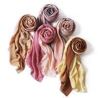 Scarves Fashion Women Scarf Malaysia Two-color Gradual Chiffon Long Towel Porcelain Star Ironed Diamond Cross-border 582