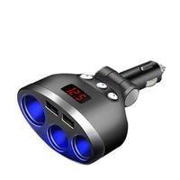 3 في 1 المزدوج USB سيارة ولاعة السجائر المقبس الفاصل التوصيل الجهد مراقب محول السيارات