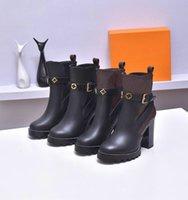 Yıldız Trail Ayak Bileği Boot Lüks Bayan Tasarımcısı Tıknaz Topuk Ayak Bileği Çizmeler Lüks Tasarımcı Lace Up Martin Çizmeler Bayan Moda Kış Patik Kutusu Ile