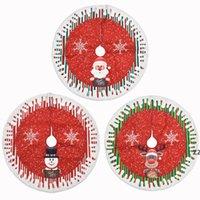 شجرة عيد الميلاد تنورة الأشجار الديكور حصيرة عيد الميلاد ثلج الرنة زخرفة المنزل عطلة مهرجان حزب ديكورات HWA8147