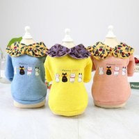 Dog Apparel Cute Cat Clothes Warm Winter Four Soft Sweater Animal Print Teddy Small Coat Pet Outfit Accessories S-XXL