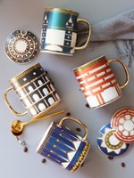 Mugs British Ins European Style Golden Top Grade Bone China Coffee Cup Tea Set And Saucer Afternoon Drinkware