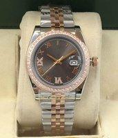 Classic women's 36mm diamond watch ladies stainless steel folding buckle Roman digital automatic mechanical fashion sport waterproof watches