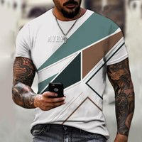 Men's T-Shirts 3D Printed Short-sleeved T-shirt Cool Letter Pattern Casual Fashion Street Round Neck Hip-hop Oversized Shirt