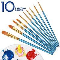 Farbbürsten Runde spitze Tipp Nylon Haarkünstler Malerei für Acrylöl Aquarell, Gesicht Nail art, feines Detail HWB7528