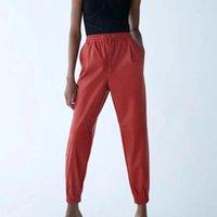 Сексуальные женские искусственные кожаные брюки Jogger Streetwear брюки мода высокая талия шнурок карандаш 2021 зимние капризы