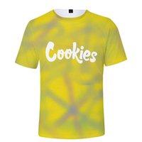 T-shirt dos homens Novos cookies gradient verão 3d cor completa juventude tendência de manga curta solta e respirável