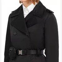 2021 의류 여성 긴 재킷 웨이트 브레인 벨트 조정 코트 봄 가을 재킷 드레스 슬림 스타일 레이디 트렌치 코트 포켓