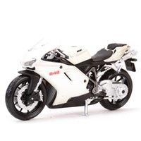 Maisto 118 Ducati-848 Statische Die Gussguss-Fahrzeuge Sammeln von Hobbies Motorrad Modell Spielzeug