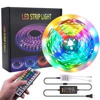16.4Ft 32.8Ft LED Strips RGB 5050 Strip lights 5M 10M 30LEDs M With 44 Key Remote Control